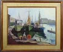 2101 Sgnd Nathalie Nordstrand Gloucester Boats oc