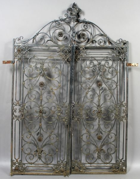 2230: Pair of late 19th C. Italian Wrought Iron Gates