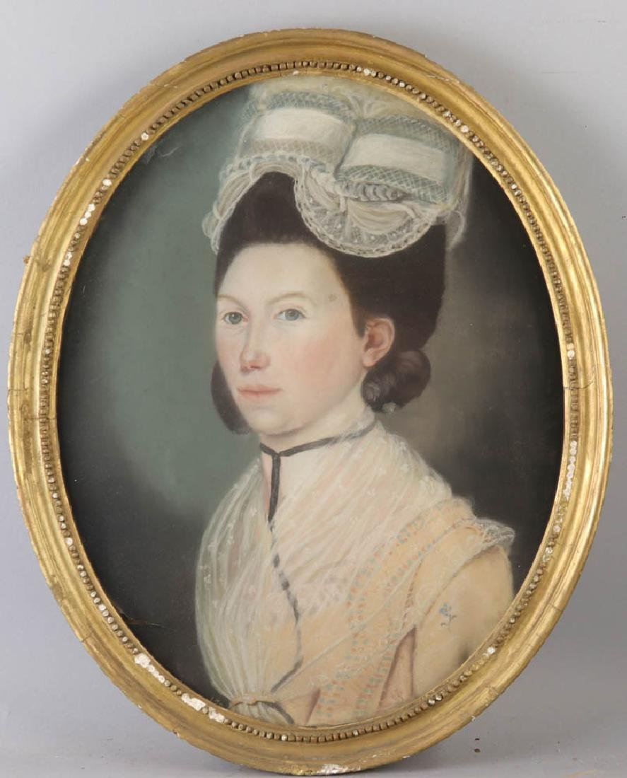 Early Portrait of Young Woman, Pastel