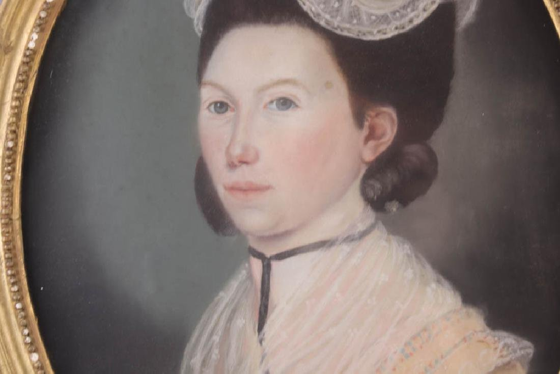 Early Portrait of Young Woman, Pastel - 3