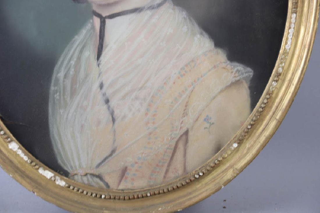 Early Portrait of Young Woman, Pastel - 4