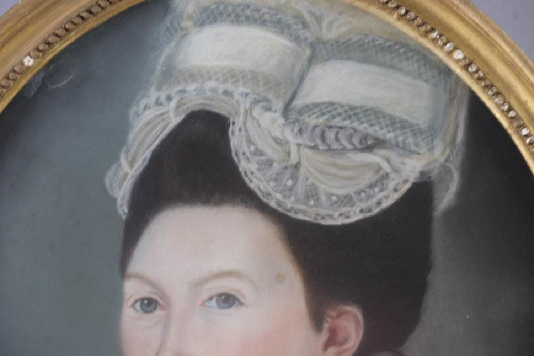Early Portrait of Young Woman, Pastel - 5