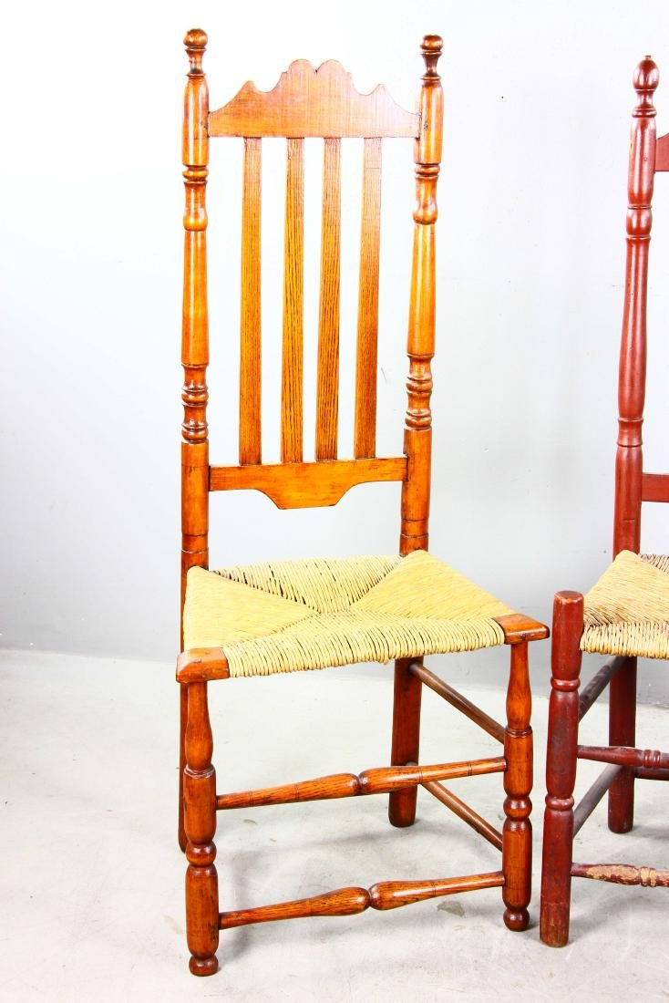 Three Split Bannister Back Chairs - 2