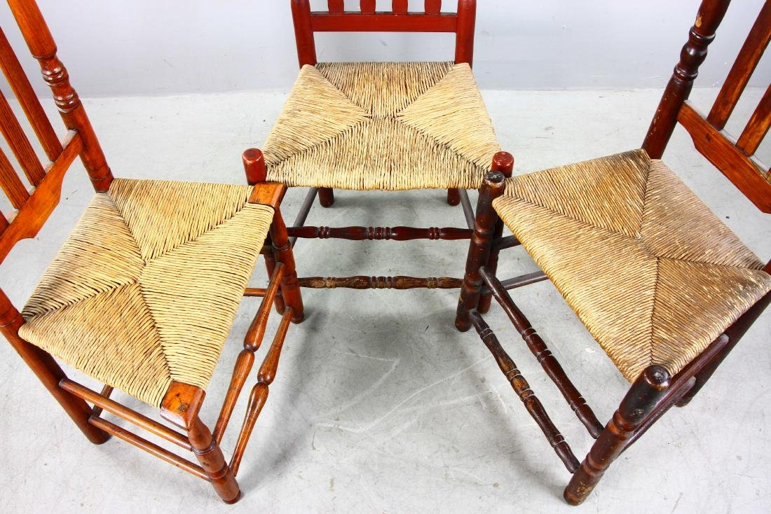 Three Split Bannister Back Chairs - 5