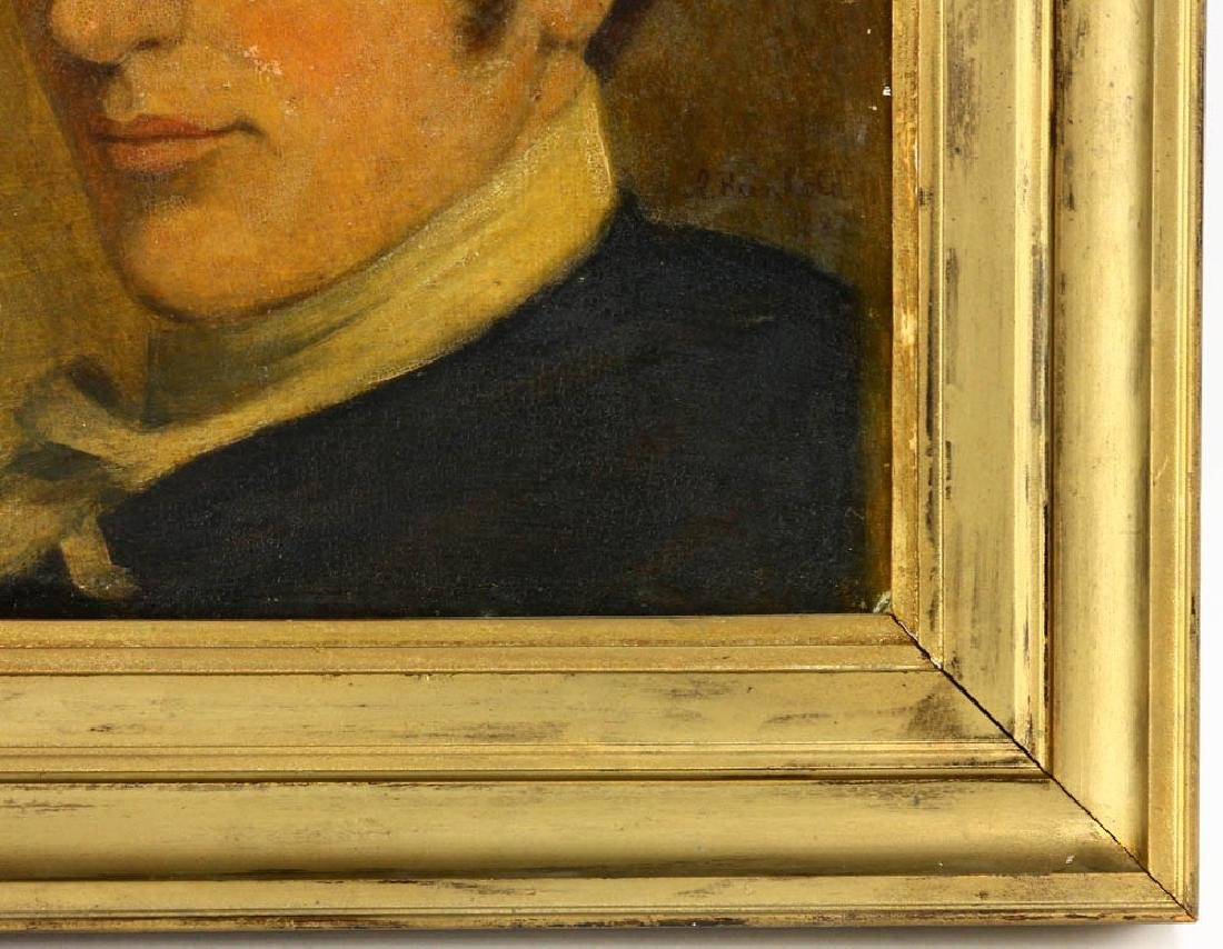 Early Portrait of Young Man, Oil on Board - 3