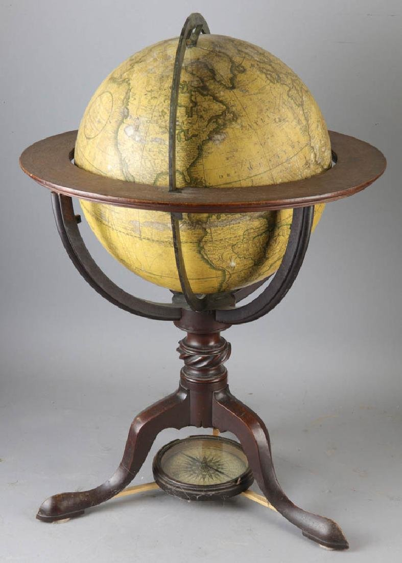 Carys New Terrestrial Globe from 1800 with Compass - 6