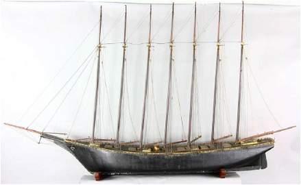 Antique Ship Model of Thomas W Lawson