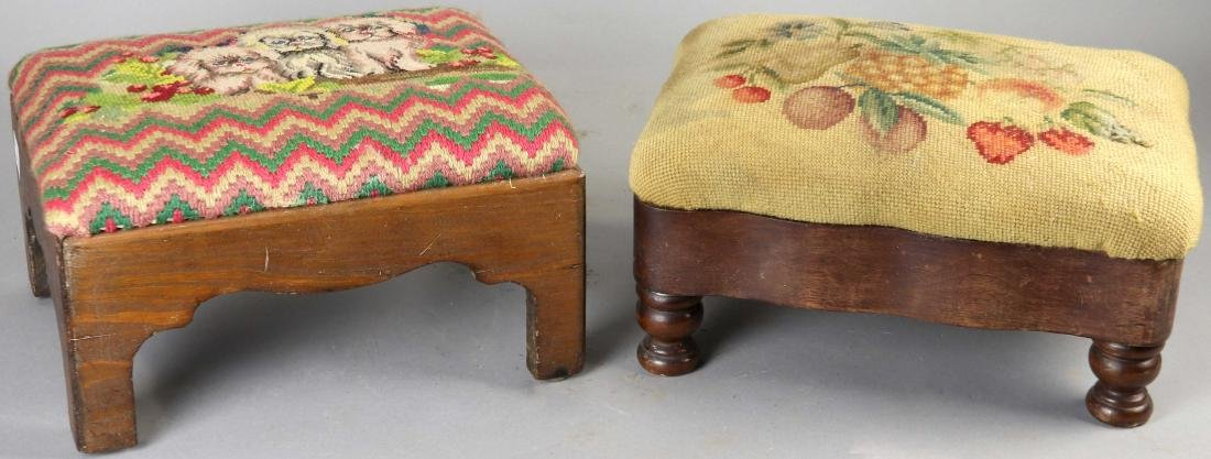 Group of Six Old Stools - 2
