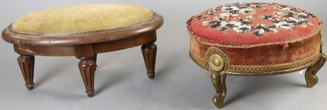 Group of Six Old Stools - 6