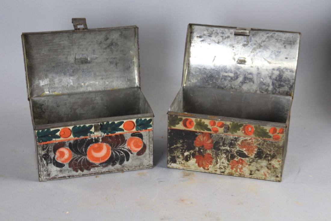 Group of Ten Toleware Covered Boxes - 7
