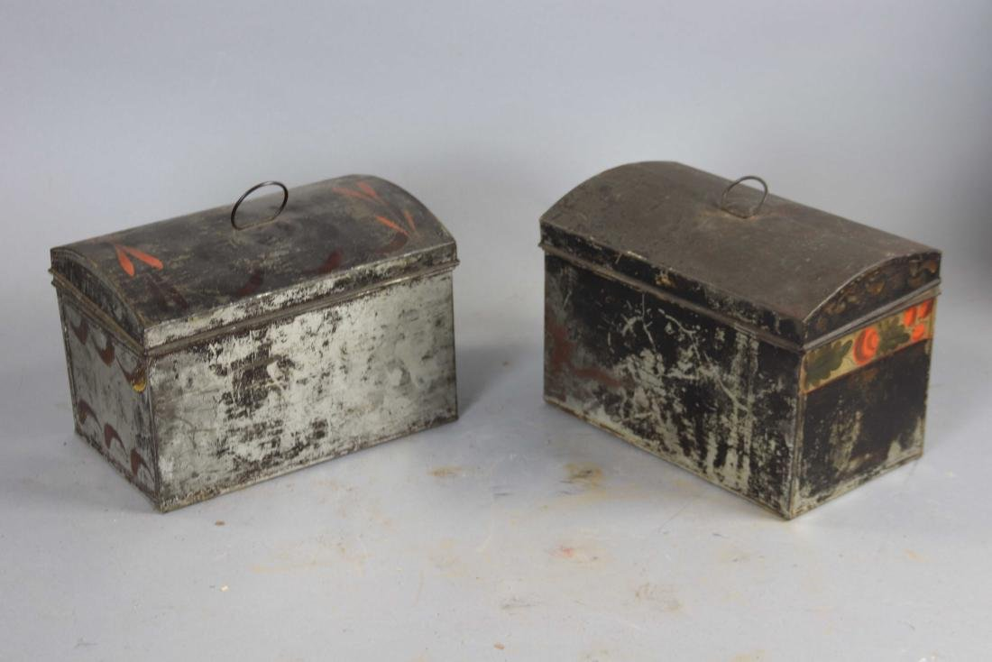 Group of Ten Toleware Covered Boxes - 8