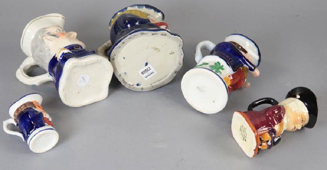Group of Five Toby Jugs - 5
