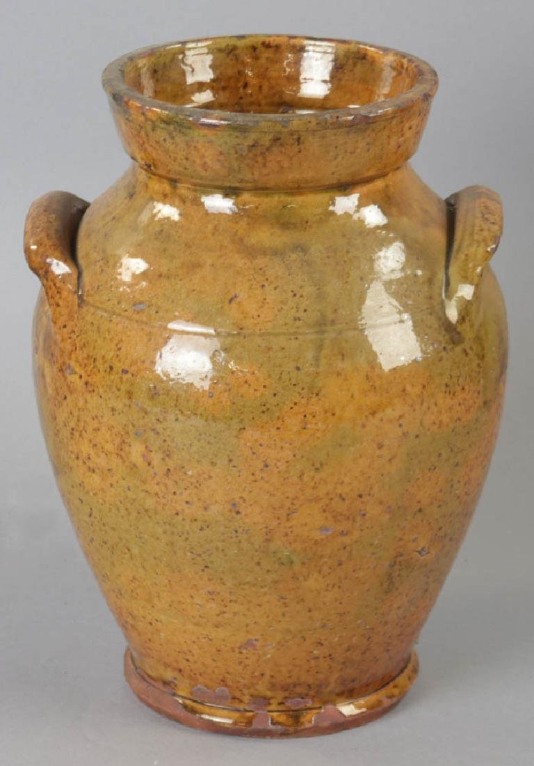 Early New England Redware, Handled Jug