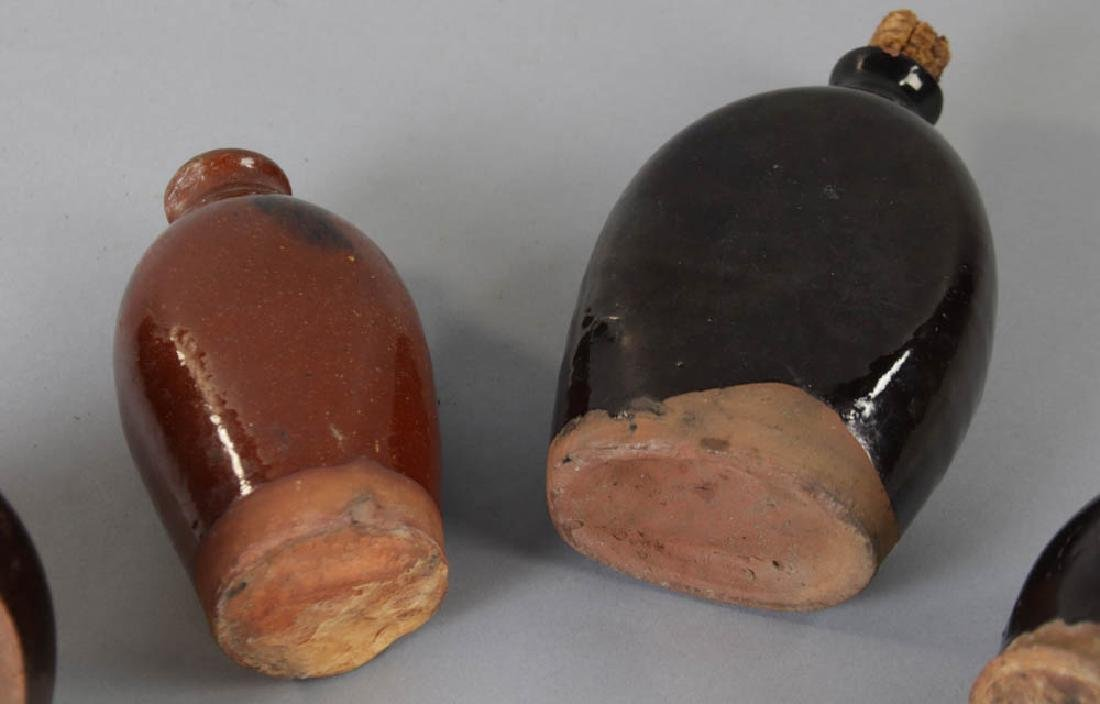 Four Early New England Redware Jugs - 3