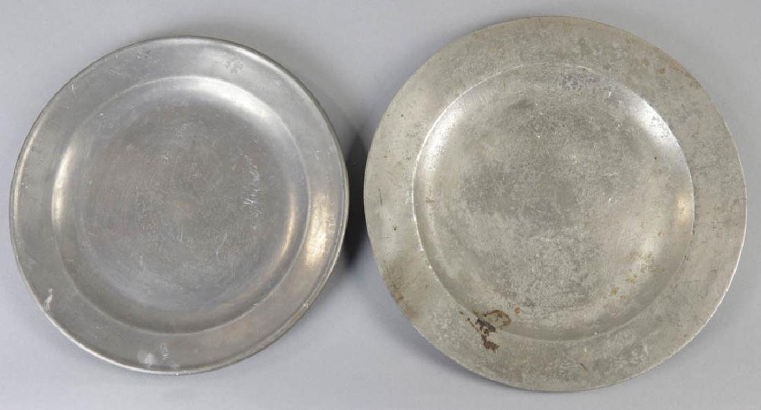 Seven Early English Pewter Plates - 4