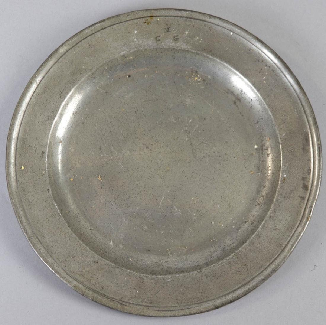 Seven Early English Pewter Plates - 6