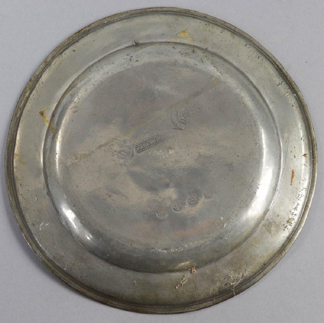 Seven Early English Pewter Plates - 7