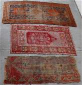 Group of three Antique Anatolian Rugs