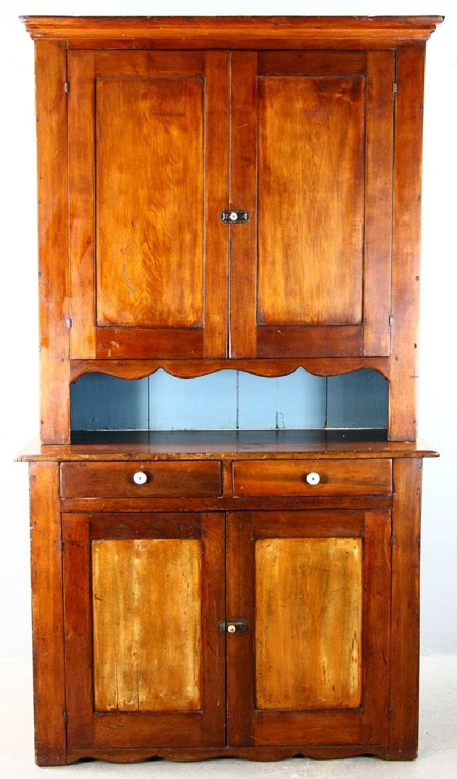 Early American Pine Two-Door Cupboard