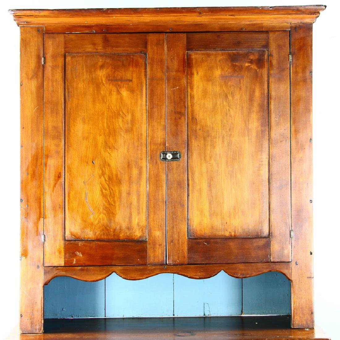 Early American Pine Two-Door Cupboard - 4
