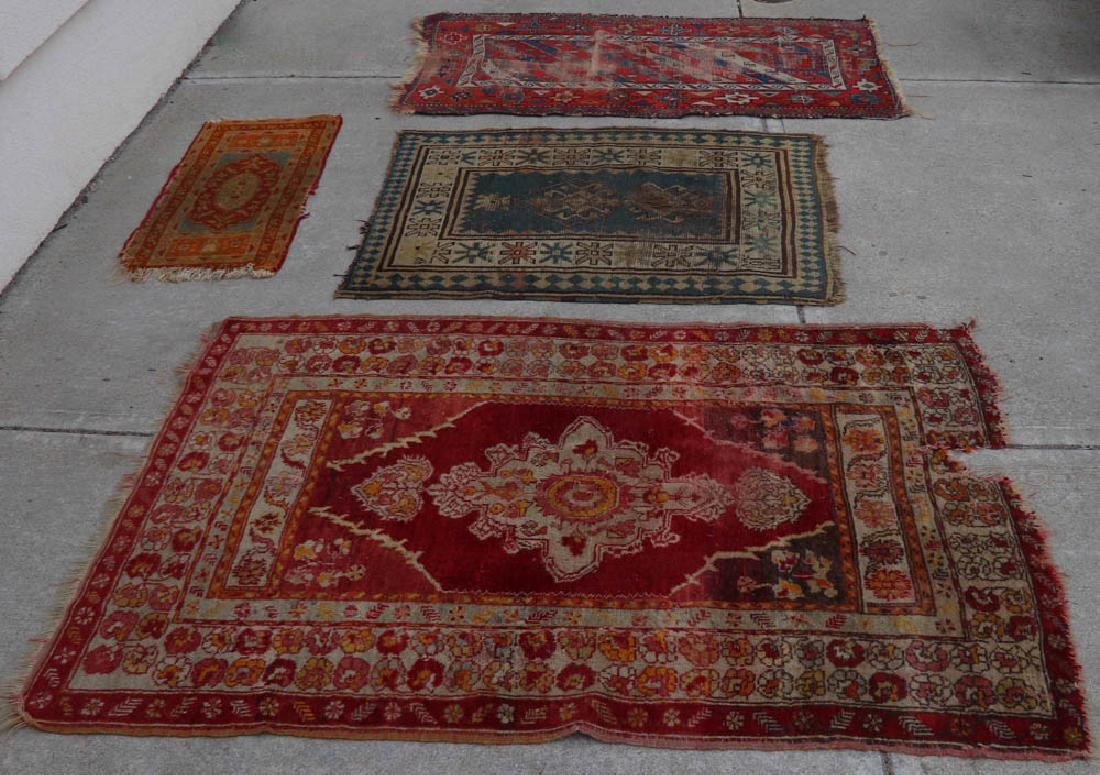 (4) Antique Caucasian and Anatolian Rugs