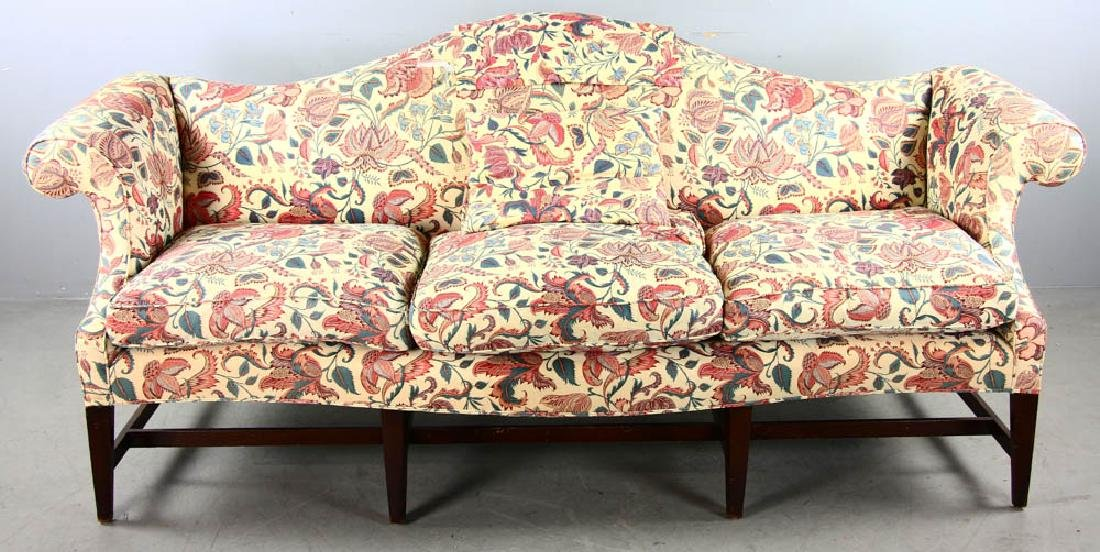 Chippendale Style Upholstered Sofa