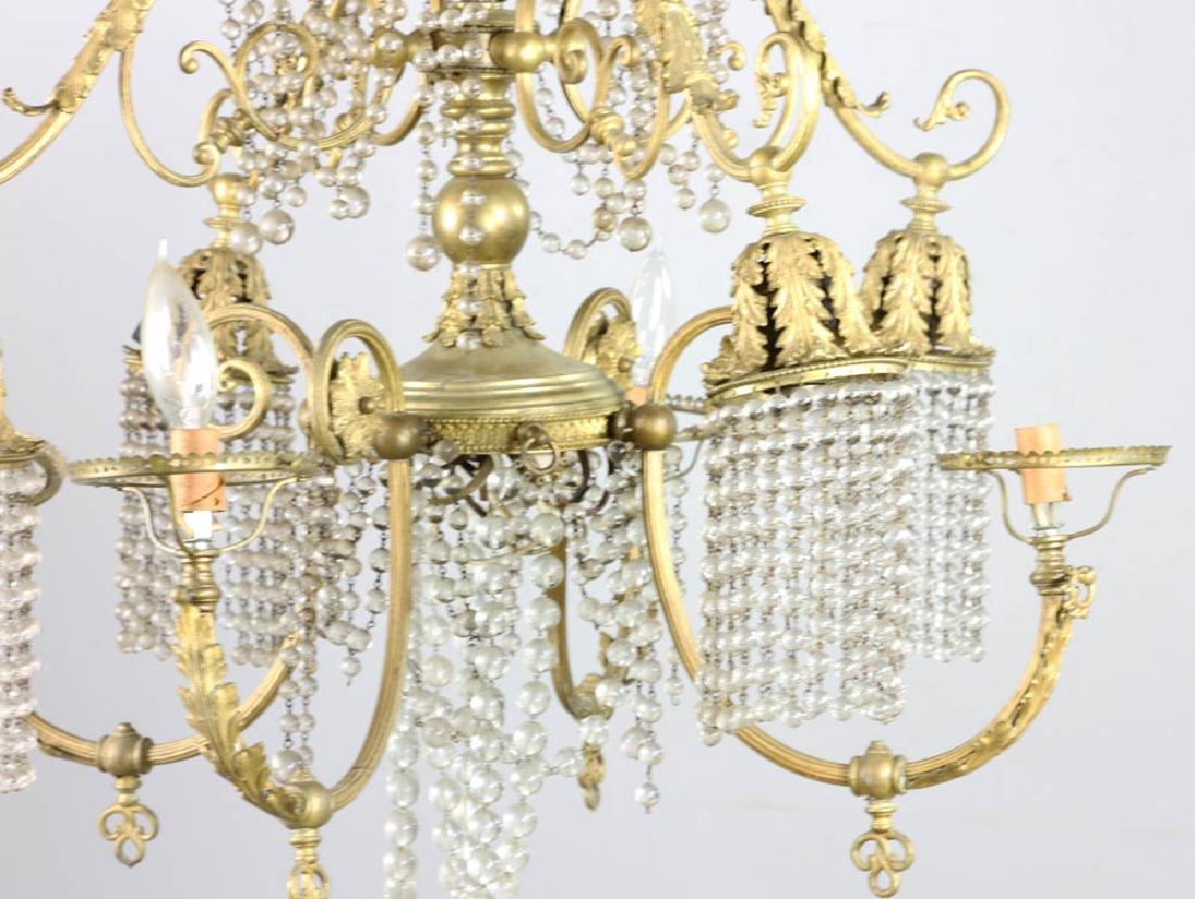 Antique Brass Chandelier - 2