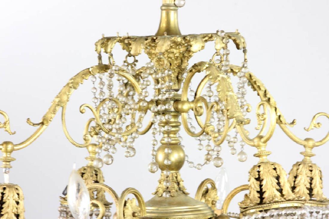 Antique Brass Chandelier - 3