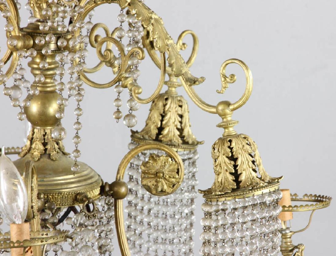 Antique Brass Chandelier - 5