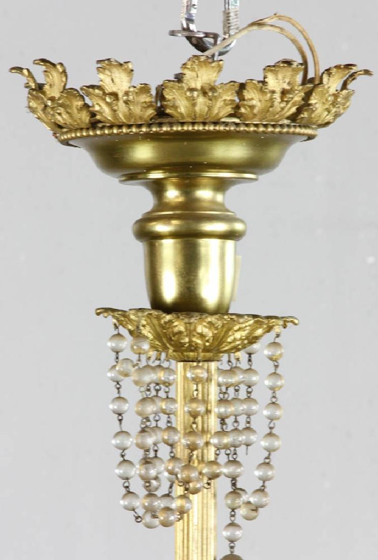 Antique Brass Chandelier - 6