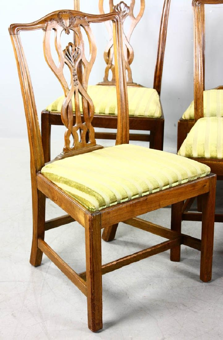 Set of Chippendale Style Dining Chairs - 2
