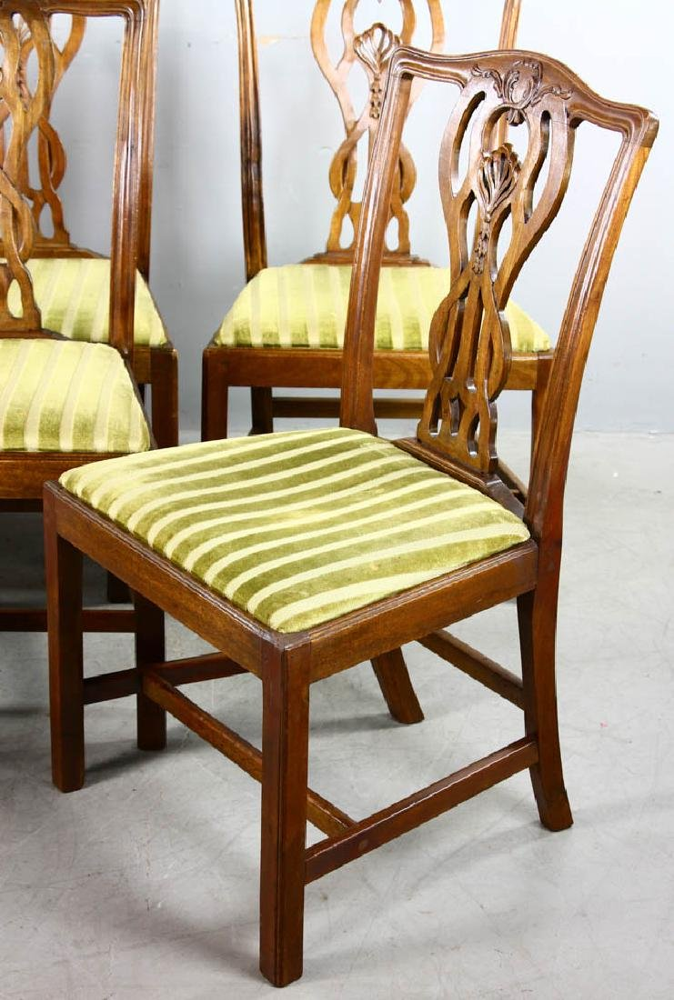 Set of Chippendale Style Dining Chairs - 3