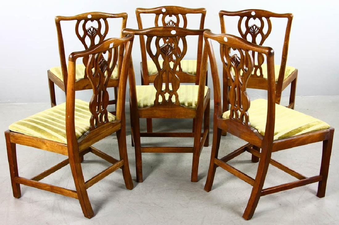 Set of Chippendale Style Dining Chairs - 4