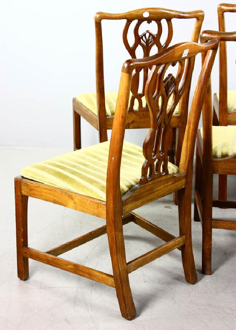 Set of Chippendale Style Dining Chairs - 5