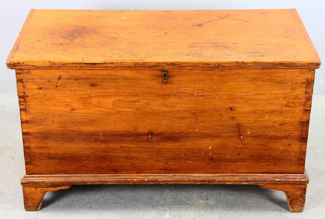 Antique Dovetailed Pine Blanket Chest
