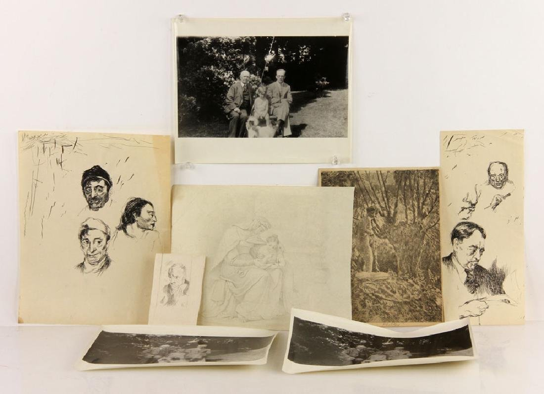 Lot of Drawings and Bookplates