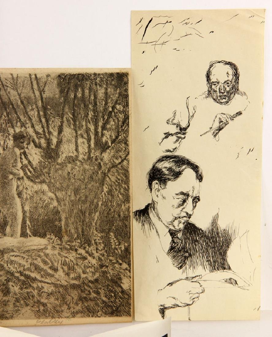 Lot of Drawings and Bookplates - 2