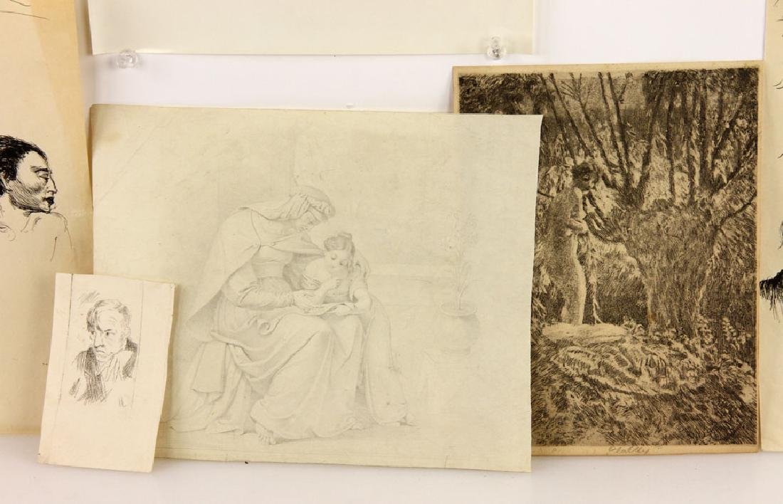 Lot of Drawings and Bookplates - 3
