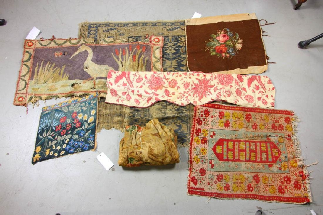 Group of Assorted Textiles, Rugs