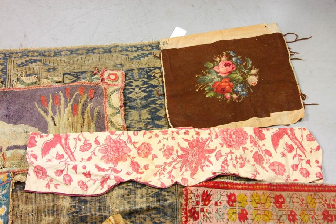 Group of Assorted Textiles, Rugs - 2