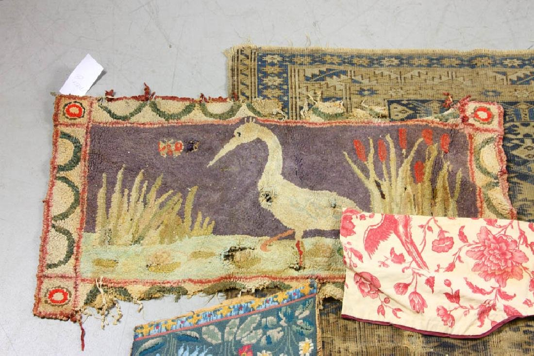 Group of Assorted Textiles, Rugs - 4