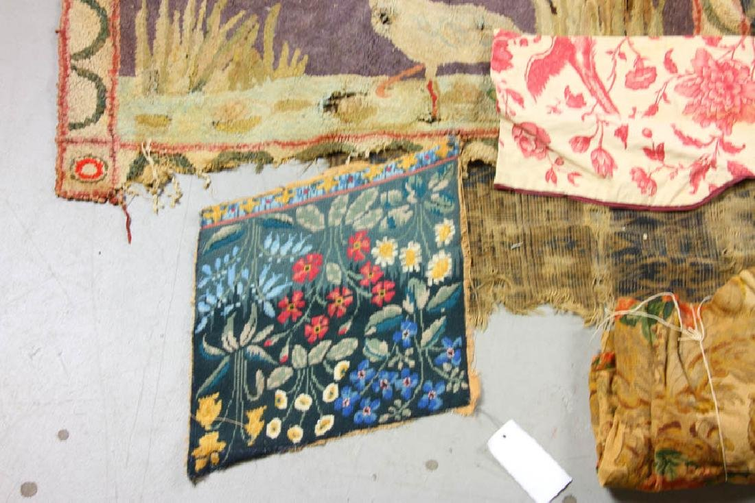 Group of Assorted Textiles, Rugs - 5