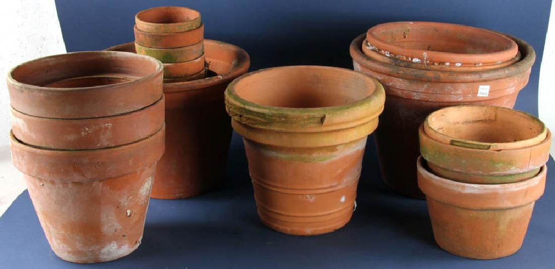 Large Group of Terra Cotta Planters