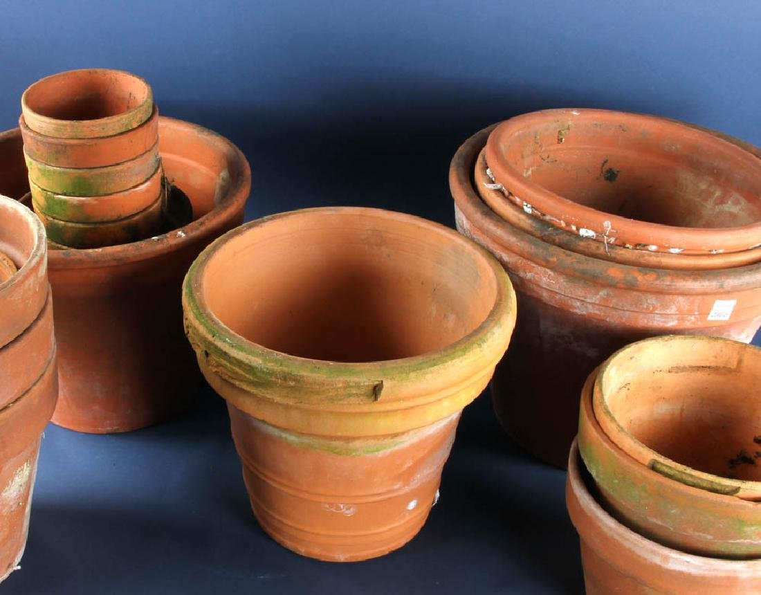 Large Group of Terra Cotta Planters - 2