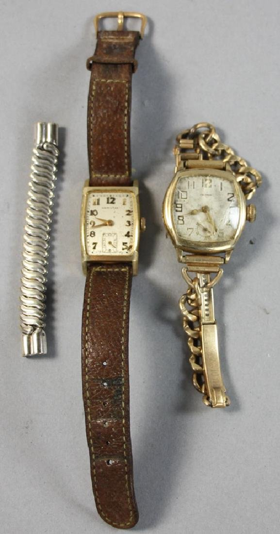 Two Mens Watches, Waltham, Hamilton