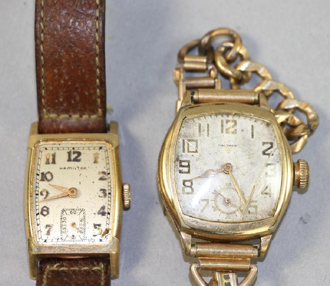 Two Mens Watches, Waltham, Hamilton - 2