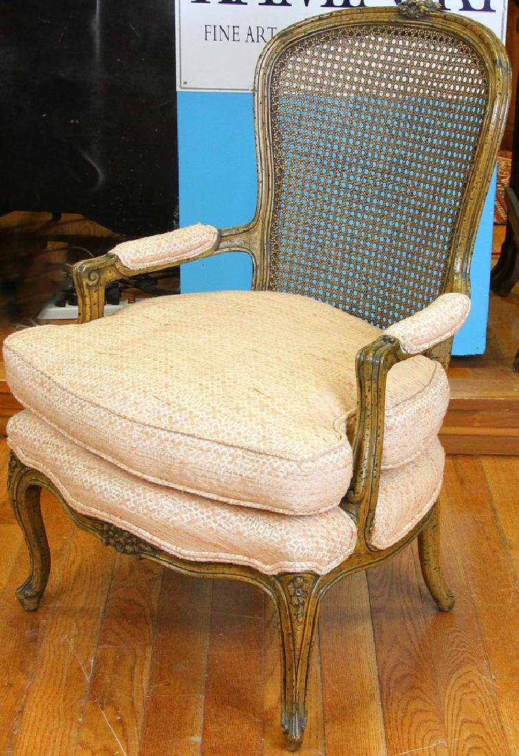 Pair of 19thC French Louis XVI Style Armchairs - 2