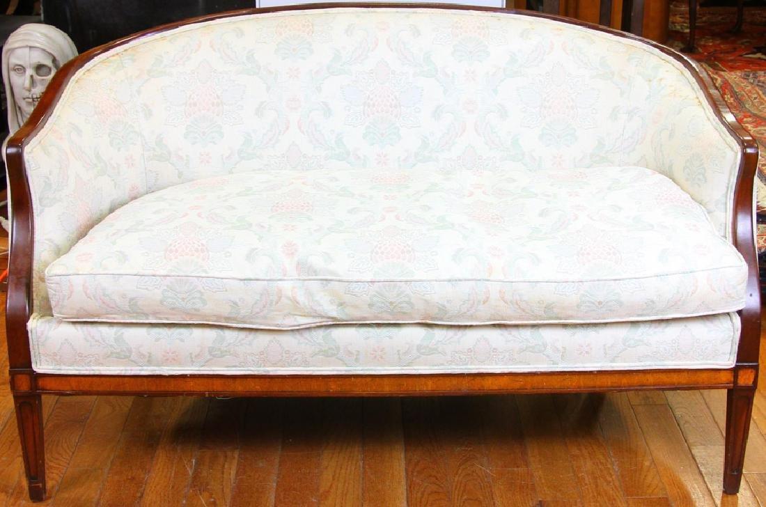 Custom Sheraton Style Mahogany Sofa