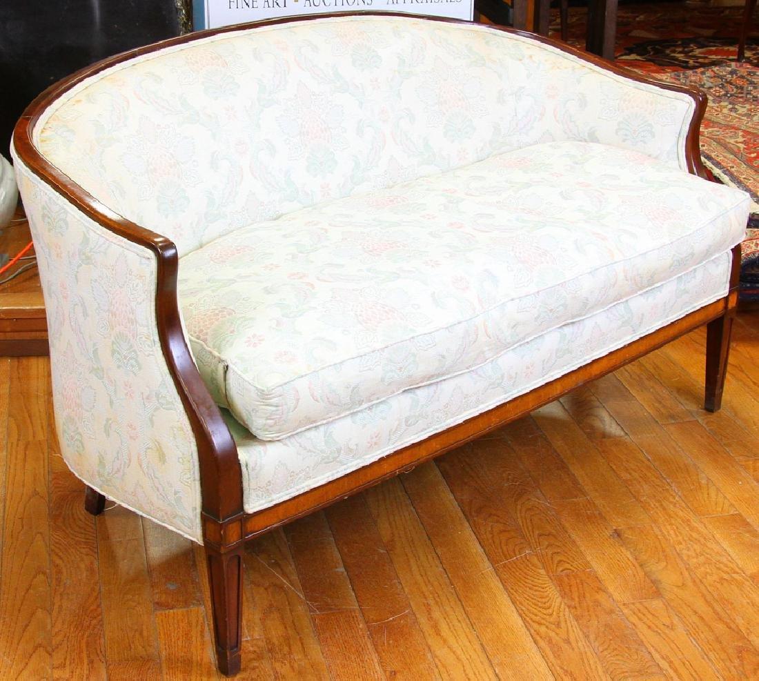 Custom Sheraton Style Mahogany Sofa - 2