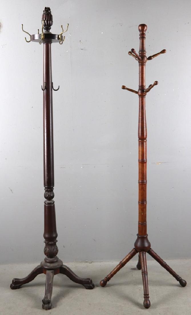 Two Antique Coat Racks - 2